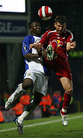 Photo: Paul Thomas.<br /> Blackburn Rovers v SV Red Bell. UEFA Cup. 28/09/2006.<br /> <br /> Shabani Nonda (L) of Blackburn fights for the ball with Milan Dudic.