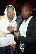 """l to r: DJ Enuff and Peter Hadar at The YRB Magazine's """" How You Rock It 3 """" with a special performance by Busta Ryhmes and hosted by YRB held at M2 Lounge on May 19, 2009 in New York City."""