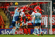 Charlton Athletic midfielder Krystian Bielik (4) on loan from Arsenal, heads towards the goal during the EFL Sky Bet League 1 match between Charlton Athletic and Accrington Stanley at The Valley, London, England on 19 January 2019.