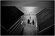 Beach Huts, Thorpe Bay, Southend-on-Sea, Essex, England -  20 February 2021