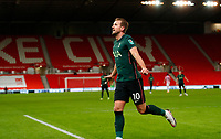 Football - 2020 / 2021 League Cup - Quarter Final - Stoke City vs Tottenham Hotspur - bet365 Stadium<br /> <br /> Harry Kane of Tottenham Hotspur celebrates scoring the third goal at Bet365 Stadium<br /> <br /> COLORSPORT/LYNNE CAMERON