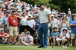 August 9, 2018 - Town And Country, Missouri, U.S - PATRICK REED from The Woodlands Texas, USA reacts to his ball slicing off to the right during round one of the 100th PGA Championship on Thursday, August 8, 2018, held at Bellerive Country Club in Town and Country, MO (Photo credit Richard Ulreich / ZUMA Press) (Credit Image: © Richard Ulreich via ZUMA Wire)