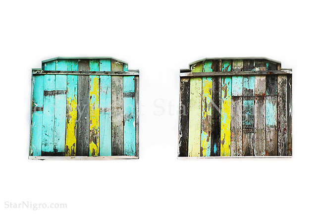 Tropical Shutters,beach scene shutters from Muisne, Ecuador<br /> <br /> <br /> photo by Star Nigro<br /> <br /> ©2021 All artwork is the property of STAR NIGRO.  Reproduction is strictly prohibited.