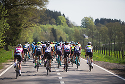 The rear of the peloton during Liege-Bastogne-Liege - a 136 km road race, between Bastogne and Ans on April 22, 2018, in Wallonia, Belgium. (Photo by Balint Hamvas/Velofocus.com)