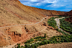 The mountain road leading to the village of Taïfaste in southern Morocco<br /> <br /> (c) Andrew Wilson   Edinburgh Elite media