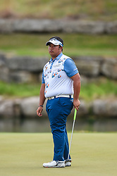 March 24, 2018 - Austin, TX, U.S. - AUSTIN, TX - MARCH 24: Kiradech Aphibarnrat watches a putt during the quarterfinals of the WGC-Dell Technologies Match Play on March 24, 2018 at Austin Country Club in Austin, TX. (Photo by Daniel Dunn/Icon Sportswire) (Credit Image: © Daniel Dunn/Icon SMI via ZUMA Press)