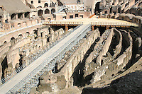 Inside the Colosseum historic monument, Rome Italy<br />