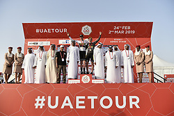 February 24, 2019 - Abu Dhabi, Emirati Arabi Uniti, Emirati Arabi Uniti - Foto LaPresse - Fabio Ferrari.24 Febbraio 2019 Abu Dhabi (Emirati Arabi Uniti).Sport Ciclismo.UAE Tour 2019 - Tappa 1 - Da Al Hudayriat Island a Al.Hudayriat Island - Crono squadre 16 km.Nella foto: ..Photo LaPresse - Fabio Ferrari.February 24, 2019 Abu Dhabi (United Arab Emirates) .Sport Cycling.UAE Tour 2019 - Stage 1 - From Al Hudayriat Island to.Al Hudayriat Island - TTT 9,9 miles.In the pic: (Credit Image: © Fabio Ferrari/Lapresse via ZUMA Press)