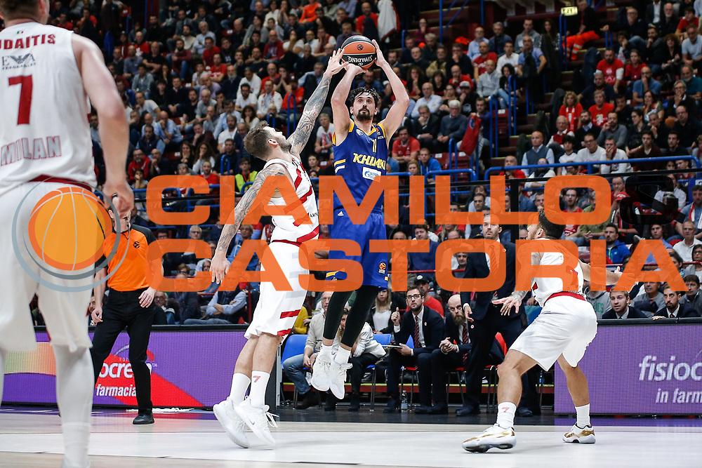 SHVED ALEXEY<br /> A | X Armani Exchange Olimpia Milano - Khimki Moscow<br /> EuroLeague 2018/19<br /> Milano, 17/10/2018<br /> Foto SIlviaFassi / Ciamillo