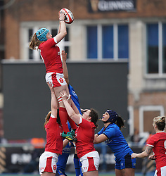 February 2, 2020, Cardiff, United Kingdom: Gwen Crabb (Wales) in action during the women's Six Nations Rugby between wales and Italy at Cardiff Arms Park in Cardiff. (Credit Image: © Graham Glendinning/SOPA Images via ZUMA Wire)