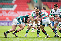 Rugby Union - 2020 / 2021 ER Challenge Cup - Quarter-Final - Leicester Tigers  vs Newcastle Falcons - Welford Road<br /> <br /> Callum Chick of Newcastle Falcons is tackled by Matt Scott of Leicester Tigers<br /> <br /> Credit : COLORSPORT/BRUCE WHITE