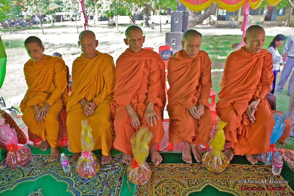 Monks Blessing The School