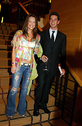 The HON.JAMES TOLLEMACHE and MISS ARABELLA MUSGRAVE at a party hosted by Burberry to launch their special collection in aid of Breakthrough Breast Cancer, held at 21-23 New Bond Street, London W1 on 5th October 2004.<br /><br />NON EXCLUSIVE - WORLD RIGHTS