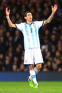 Angel Di Maria of Argentina looks dejected - Argentina vs. Portugal - International Friendly - Old Trafford - Manchester - 18/11/2014 Pic Philip Oldham/Sportimage