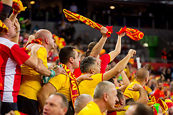 Macedonian fans during handball match between National teams of Germany and Macedonia on Day 5 in Preliminary Round of Men's EHF EURO 2018, on January 17, 2018 in Arena Zagreb, Zagreba, Croatia. Photo by Ziga Zupan / SportidaMacedonian fans during during handball match between National teams of Germany and Macedonia on Day 5 in Preliminary Round of Men's EHF EURO 2018, on January 17, 2018 in Arena Zagreb, Zagreb, Croatia. Photo by Ziga Zupan / Sportida