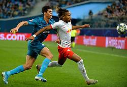 November 5, 2019, St. Petersburg, Russia: Russia. St. Petersburg. November 5, 2019. FC Zenit players Jordan Osorio and FC RB Leipzig Christopher Nkunku (left to right) in the UEFA Champions League group stage match between the teams Zenit (St. Petersburg, Russia) and RB Leipzig  (Credit Image: © Andrey Pronin/ZUMA Wire)