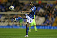Birmingham City striker Clayton Donaldson (9) during the Sky Bet Championship match between Birmingham City and Brighton and Hove Albion at St Andrews, Birmingham, England on 5 April 2016.