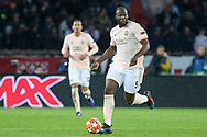 Manchester United Forward Romelu Lukaku during the Champions League Round of 16 2nd leg match between Paris Saint-Germain and Manchester United at Parc des Princes, Paris, France on 6 March 2019.