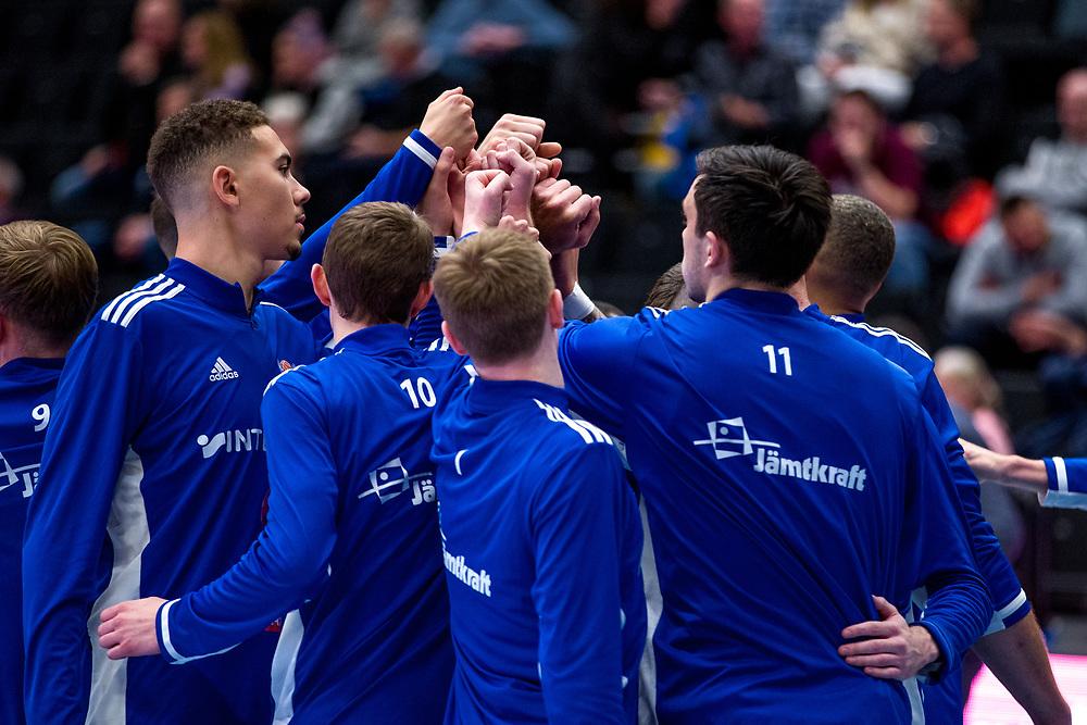 ÖSTERSUND 20210924<br /> Jämtland innan fredagens match i Basketligan mellan Jämtland Basket och Nässjö Basket i Östersunds Sporthall<br /> <br /> Foto: Per Danielsson/Projekt.P