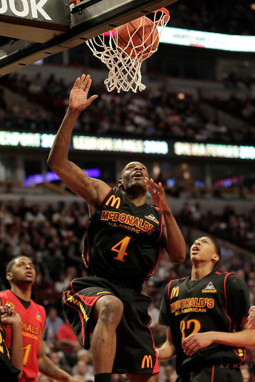 30 March 2011: Adonis Thomas (4) who has committed to Memphis plays in the 2011 McDonalds All American game in Chicago, Ill.