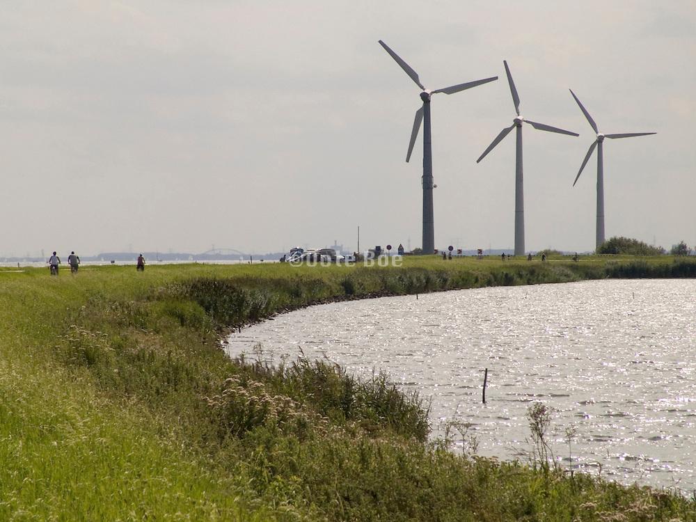 wind turbines in Dutch landscape