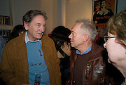 MICHAEL HOLROYD; NICHOLAS GRACE, The Actors Centre's 30th Birthday Party. 1a Tower St, Covent Garden. London. 2nd November<br /> *** Local Caption *** -DO NOT ARCHIVE -Copyright Photograph by Dafydd Jones. 248 Clapham Rd. London SW9 0PZ. Tel 0207 820 0771. www.dafjones.com