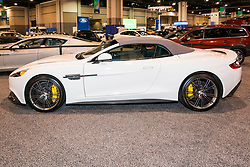 CHARLOTTE, NORTH CAROLINA - NOVEMBER 20, 2014: Aston Martin Vanquish Volante on display during the 2014 Charlotte International Auto Show at the Charlotte Convention Center.