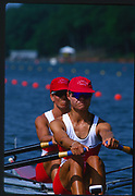 Atlanta, United States of America. Gold Medalist: CAN W2X.  Stroke:Kathleen HEDDLE  and Bow Marnie McBEAN, 1996 Olympic Regatta, Lake Lanier, Gainesville<br /> <br />  Georgia. [Mandatory Credit: Peter Spurrier: Intersport Images]