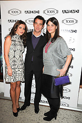 Left to right, ELLA KRASNER, CLIVE OWEN and KATRINA PAVLOS at an In-House screening of 'Sweet Smell of Success' hosted by Clive Owen presented by Tod's in association with Amend held at The Electric Cinema, 191 Portobello Road, London W11 on 29th November 2010.