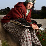 """Luke Mitrani photographed for Sports Illustrated's """"Where Will They Be"""" feature in Encinitas, California. Mitrani, a snowboarder from a beach town, had major endorsements by age eight."""
