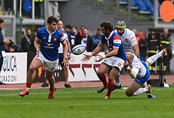 March 16, 2019 - Rome, Italy - Damian Penaud during RBS Six Nations Rugby Championship, Italia v Francia at the Olympic Stadium in Rome, on march 16, 2019  (Credit Image: © Silvia Lore/NurPhoto via ZUMA Press)