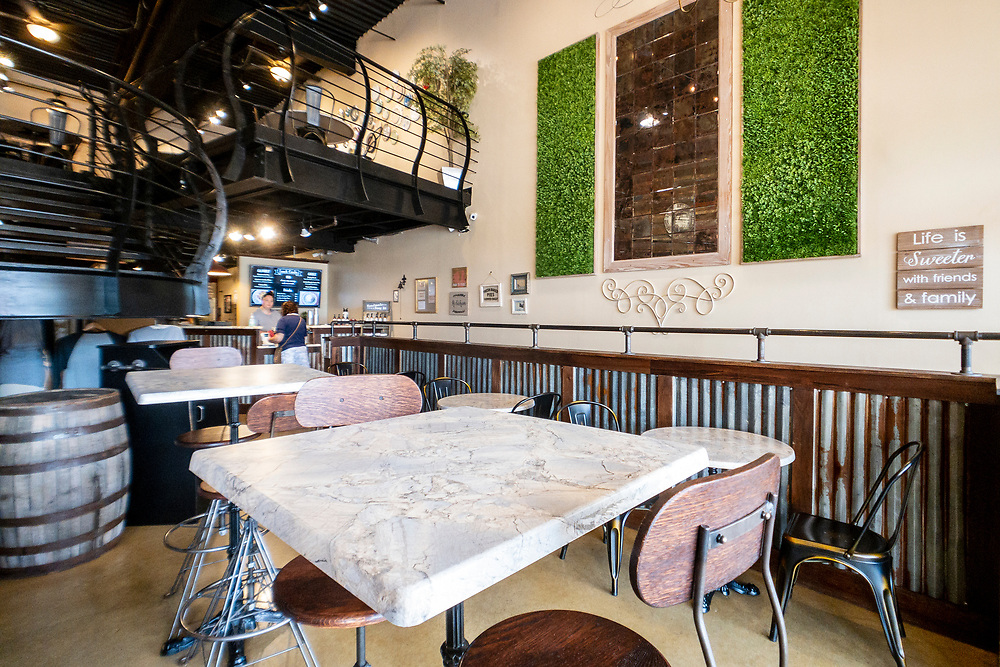 Indoor seating at Fayetteville Pie Company in Fayetteville, North Carolina on Saturday, August 14, 2021. Copyright 2021 Jason Barnette