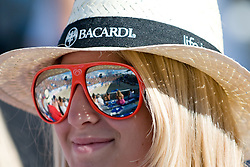 Fans with glasses and reflection to the court at A1 Beach Volleyball Grand Slam tournament of Swatch FIVB World Tour 2010, final, on July 31, 2010 in Klagenfurt, Austria. (Photo by Matic Klansek Velej / Sportida)