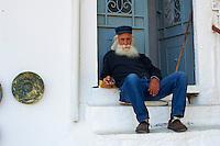 Grece, Cyclades, ile de Naxos, ruelles du village de Apiranthos // Greece, Cyclades islands, Naxos, city of Hora (Naxos), old village of Apiranthos
