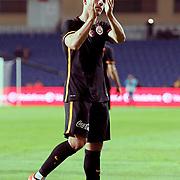 Galatasaray's Lukas Podolsk during their Turkish Super League soccer match Medipol Basaksehir between Galatasaray at the Basaksehir Fatih Terim Arena at Basaksehir in Istanbul Turkey on Saturday, 03 October 2015. Photo by Kurtulus YILMAZ/TURKPIX