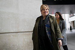 © Licensed to London News Pictures. 05/01/2020. London, UK. Shadow Foreign secretary Emily Thornberry arrives at the BBC. Photo credit: George Cracknell Wright/LNP