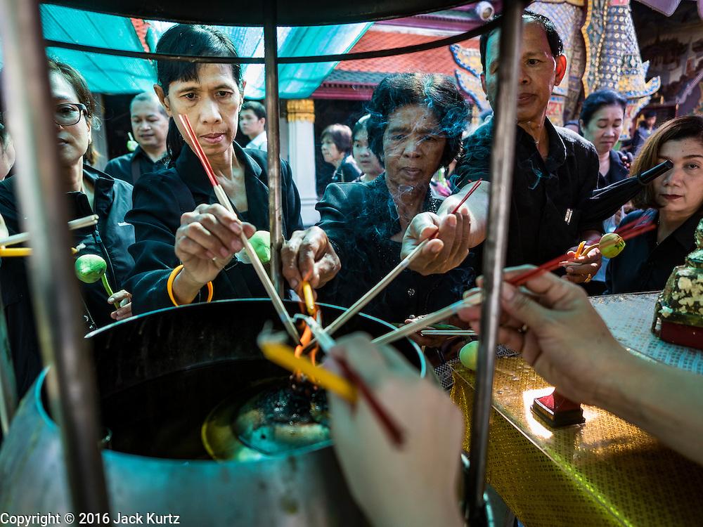 20 OCTOBER 2016 - BANGKOK, THAILAND:        PHOTO BY JACK KURTZ
