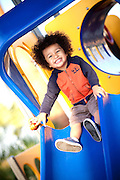 Child on the Playground Equipment