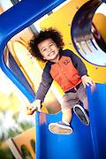 Child on the Playground Equipment