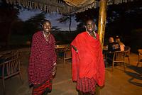 Maasai tribesmen, Amboseli Serena Lodge, Amboseli National Park, Kenya