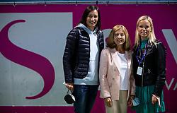 PORTOROZ, SLOVENIA - SEPTEMBER 19:  Katarina Srebotnik, Mima Jausovec and Tea Starc after the Singles final during the WTA 250 Zavarovalnica Sava Portoroz at SRC Marina, on September 19, 2021 in Portoroz / Portorose, Slovenia. Photo by Vid Ponikvar / Sportida