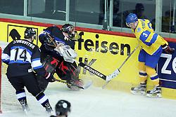 20.04.2016, Dom Sportova, Zagreb, CRO, IIHF WM, Ukraine vs Estland, Division I, Gruppe B, im Bild Daniil Seppenen, Yevgen Tymchenko // during the 2016 IIHF Ice Hockey World Championship, Division I, Group B, match between Ukraine and Estonia at the Dom Sportova in Zagreb, Croatia on 2016/04/20. EXPA Pictures © 2016, PhotoCredit: EXPA/ Pixsell/ Goran Stanzl<br /> <br /> *****ATTENTION - for AUT, SLO, SUI, SWE, ITA, FRA only*****