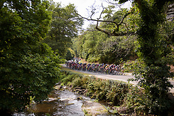 Peloton approach on lap 4 at Grand Prix de Plouay Lorient Agglomération a 121.5 km road race in Plouay, France on August 26, 2017. (Photo by Sean Robinson/Velofocus)