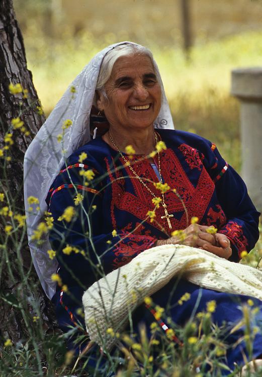 Portrait of an Israeli woman.