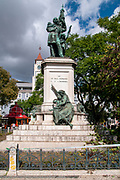 Statue of General Marquez de Sa da Bandeira (defender of the abolition of slavery) in the Jardim de Dom Luis I, Lisbon, Portugal