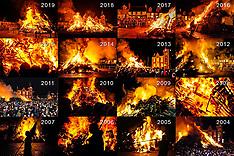 Hogmanay Bonfire Montage, Biggar, 31 December 2020