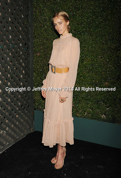 BEVERLY HILLS, CA- OCTOBER 02: Actress Isabel Lucas  arrives at the Michael Kors Hosts Launch Of Claiborne Swanson Frank's 'Young Hollywood' Portrait Book at a private residence on October 2, 2014 in Beverly Hills, California.