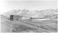 """View of Lizard Head RGS snowsheds before the 1941 fire which burned most of the west end.  From Rico (west) side of station.<br /> RGS  Lizard Head, CO  ca. 1930-1933<br /> In book """"Southern, The: A Narrow Gauge Odyssey"""" page 67"""