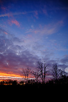 Colorful Clouds at Dawn. Composite 7 of 12 images taken with a Fuji X-T2 camera and 8-16 mm f/2.8 lens (ISO 200, 16 mm, f/5.6, 1/60 sec). Raw images processed with Capture One Pro and AutoPano Giga Pro.