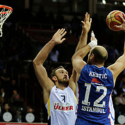 Anadolu Efes's and Fenerbahce Ulker's during their Royal Hali Gaziantep Turkey Cup Final match Anadolu Efes between Fenerbahce Ulker at Karatas Sahinbey Arena in Gaziantep Turkey on Sunday 22 February 2015. Photo by Aykut AKICI/TURKPIX